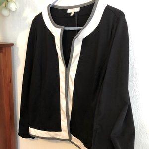 Black and White jacket, Talbots, size XL